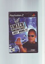 WWF SMACKDOWN! JUST BRING IT - WWE WRESTLING PS2 / 60GB PS3 ORIGINAL & COMPLETE