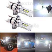 2pcs H4 LED Glühbirne versteckt weiß 360 ° HiLow Motorrad Scheinwerfer 6000K