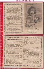 666 SANTINO HOLY CARD ANNO 1940 COMUNIONE PASQUALE PIERIS TRIESTE