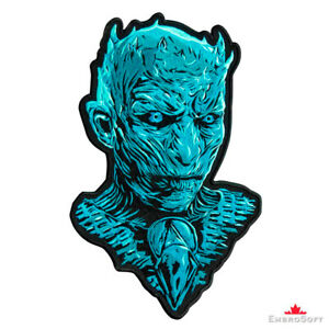 The Night King GAME OF THRONES White Walker LARGE Embroidered PATCH Iron/Sew On