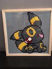Pokemon Lego Pixel Art Cadre Noctali Umbreon Frame Custom Mosaic Mosaïque