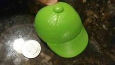 """Mr. Potato Head Hat Baseball Cap Green Rubber 3.25""""L x 2.5""""W x 1""""T Playskool?"""