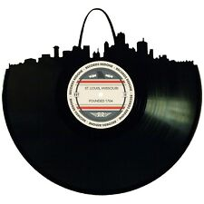 St Louis Skyline Vinyl Record Art