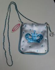 Molly N' Me Princess Collection Bag Blue Crown Tote Purse * Fun *