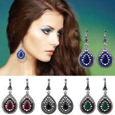 Vintage Teardrop Earrings Bohemian Gem Rhinestone Diamante Fashion Jewelry Women