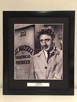 RARE Gene Wilder The Producers Signed Photo Display + COA + FRAMED AUTOGRAPH