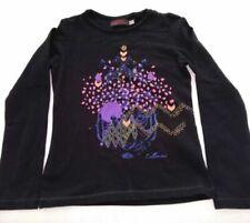 T-shirts noirs Catimini pour fille de 2 à 16 ans