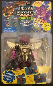 TMNT Metal Mutants Series: Donatello with Lion Spirit Armor; 1995 Playmates Toy
