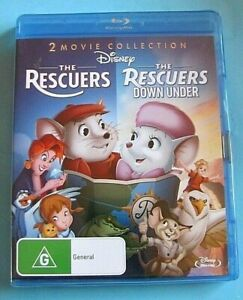 THE RESCUERS / THE RESCUERS Down Under BLU-RAY NEW SEALED Disney