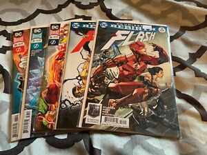 """The Flash (DC Rebirth) Issues 34-38 Complete """"Black Hole Rising"""" Story DC 2016"""