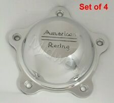 Set of 4 New 3505293 American Racing Polished Torq Thrust Hopster Center Caps