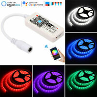 WiFi LED Strip Light RGB Controller Compatible with Alexa Google Assistant IFTTT