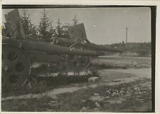 PHOTO ANCIENNE - VINTAGE SNAPSHOT - MILITAIRE CANON ARTILLERIE ARME - MILITARY