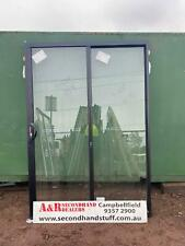 NEW ALUMINIUM SLIDING DOORS 2100h x 1450w (Approx Size) (5 COLOURS)
