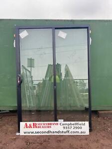 NEW ALUMINIUM SLIDING DOORS 2100h x 1450w (Approx Size) (5 COLOURS)