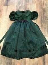 Bonnie Jean New York Green Holiday Girls Dress Size 4 Velour