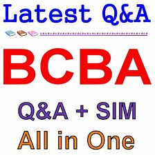Board Certified Behavior Analyst BCBA Exam Q&A PDF+SIM