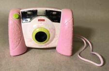 2006 Fisher Price Kid Tough Digital Camera Pink W/Flowers - Tested & Works!!
