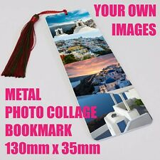 Personalised Photo Collage Bookmark Metal Gift Literary Books 130x35mm
