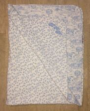 Amy Coe Blue White Baby Blanket 3 Ducks Trees Nature Mini Leaves Red Tag Lovey