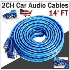 14' Feet Car Rca Audio Amplifier Cables Interconnects Home Audio Accessories 2Ch