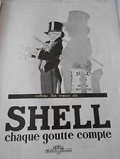 PUBLICITE 1929  Shell chaque goutte compte