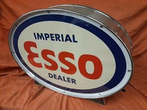 Esso,automobilia,fuel,oil,vintage,classic,mancave,lightup sign,garage,workshop,3