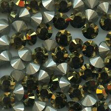 1028 39 D *** 6 STRASS SWAROVSKI FOND CONIQUE SS39(8,3mm) CRYSTAL DORADO  F