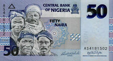 NIGERIA: 4 PIECE UNCIRCULATED RECENT BANKNOTE SET, 5 - 50 NAIRA