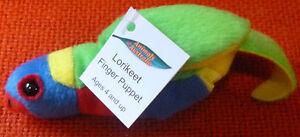 AUSTRALIAN ANIMAL FUNDRAISER GIFT LORIKEET Soft Material FINGER PUPPET