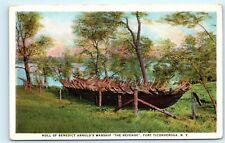 Hull Benedict Arnold's Warship Boat The Revenge Fort Ticonderoga NY Postcard C37
