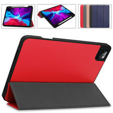 For iPad Pro 12.9 2020 4th Gen Smart Case Flip Stand Pencil Holder Leather Cover