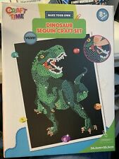 Sequin Art / craft Set - Dinosaur - ages 8 plus-Brand New and Sealed - Free P&P