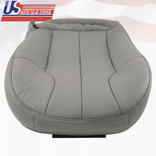 1999-2001 Jeep Grand Cherokee Driver Bottom Replacement Leather Seat Cover Gray