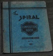 Vintage Composition Book filled With Vintage Used Collectible Stamps, GD CND
