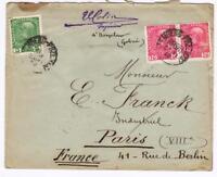 AUTRICHE -  OLD LETTER   TO PARIS  YEAR 1913