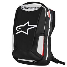 Alpinestars City Hunter Aerodynamic Motorcycle Riding Backpack Black/White/Red