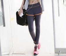 Femme sport yoga running pantalon de fitness gym vêtements jogging pantalon-m violet