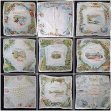 More details for vintage souvenir handkerchief hanky 1930s 1940s printed british ireland 30s 40s