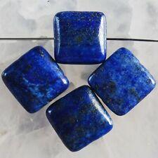 G82695 12x5 4Pcs Lapis Lazuli Square Pendant Bead