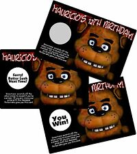 FIVE NIGHTS AT FREDDY'S SCRATCH OFF OFFS PARTY GAME GAMES CARDS BIRTHDAY FAVORS