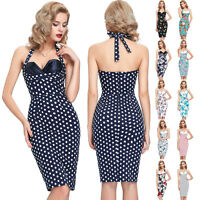 50'S RETRO VINTAGE STYLE WIGGLE PIN UP SWING PROM EVENING PARTY DRESS