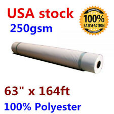 """New listing Us stock 63"""" x 164ft Dye Sublimation Print Frame Fabric 100% Polyester (250gsm)"""