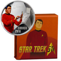 2016 Canada $10 1/2 oz Colorized Proof Silver Star Trek Scotty In OGP SKU41951
