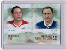 JEAN BELIVEAU RED KELLY 12/13 ITG Forever Rivals Playoff Matchups Insert #PM-02