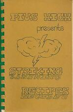*LINCOLN NE VINTAGE *PIUS X CATHOLIC HIGH SCHOOL COOK BOOK *STRIKING RECIPES