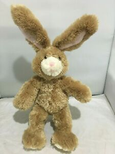 FLUFFY SOFT CUTE BROWN EASTER BUNNY RABBIT RARE LIMITED EDITION BUILD A BEAR