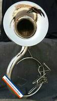 SOUSAPHONE 22 INCH BELL IN SILVER POLISH MADE OF PURE BRASS +CASE + FREE SHIPING
