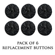 NEW REPLACEMENT JACKET BUTTONS - BLACK IMITATION HORN BUTTON - LARGE