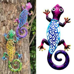 Metal Gecko Home Wall Decor Indoor Outdoor Garden Home Lizard Hanging Decoration